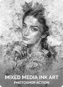 Charcoal Art - Realistic Dust Photoshop Action - 24