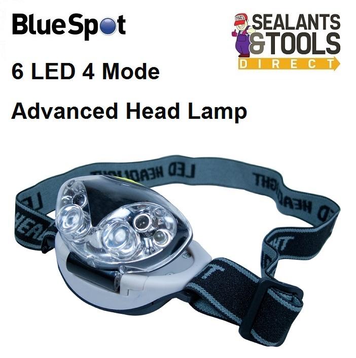Blue Spot LED Tilt Head lamp Torch 65252