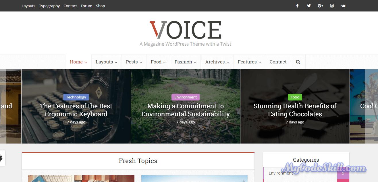 Voice Best AMP WordPress Theme