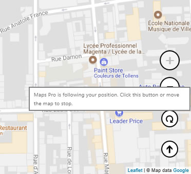 How To Make The Application Follow My Position Direction Of Travel - Map price meaning