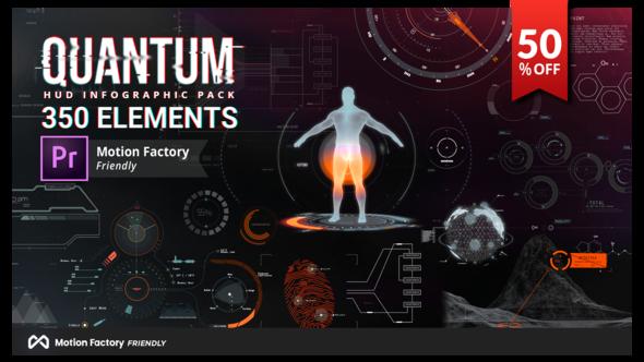Videohive Quantum HUD and HiTech Elements for Premiere Pro 21943555