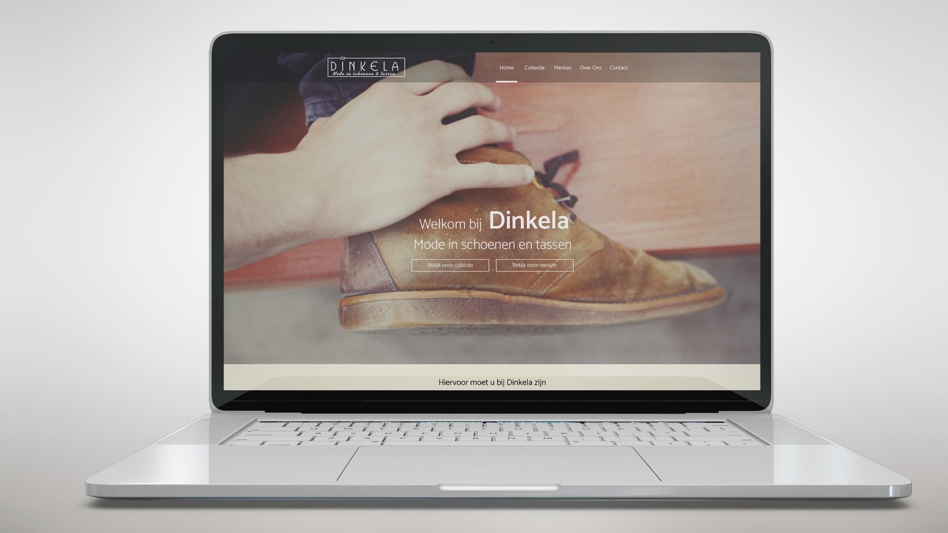 Dinkela Schoenen Website Ontwerp
