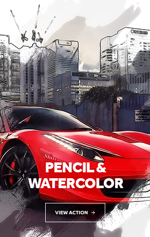 Pencil Watercolor Photoshop Action