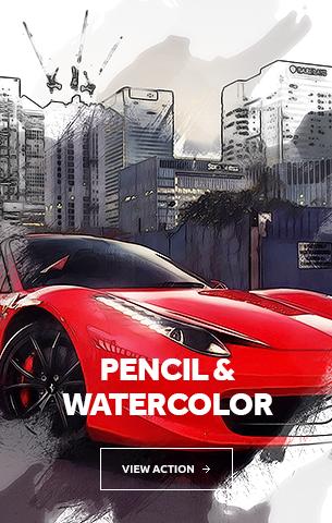 Pencil Watercolor Photoshop Action