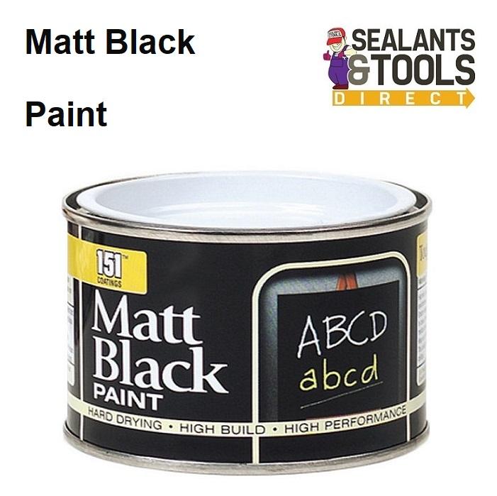 151 Matt Black Multi Purpose Paint 180ml Tin DY024A