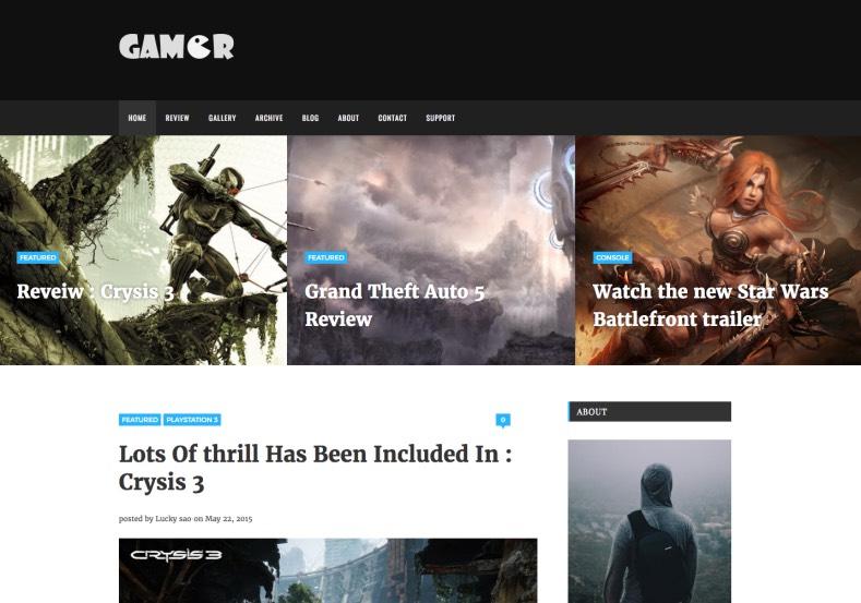 Gamer_Blogger_Template