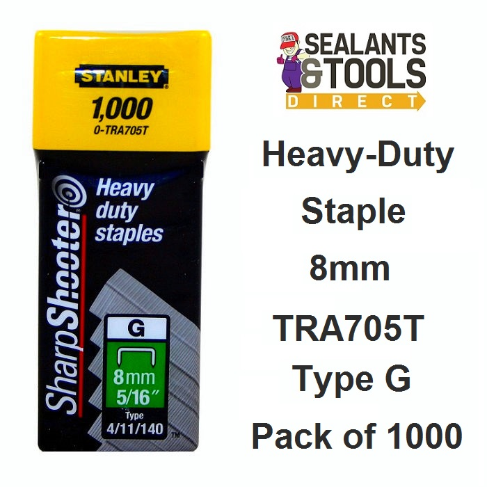Stanley 8mm Heavy duty staples