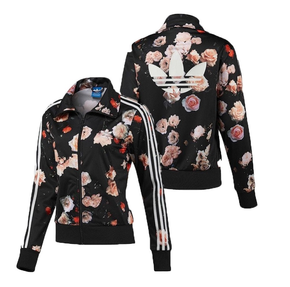 Détails : New Adidas Original Firebird Track Top Floral Roses Jacket for women's F78292