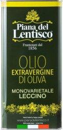 Aceite de oliva Virgen Extra Leccino monovarietal garrafa 5l