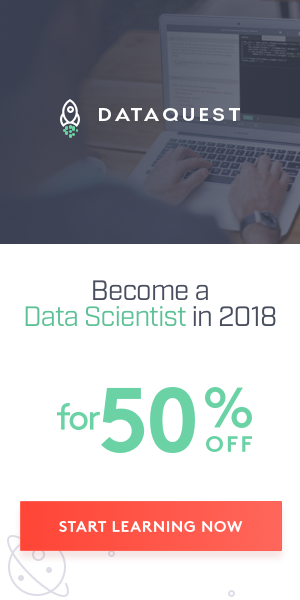 Change Your Career in 2018: $100 off Dataquest's Annual Premium Plan