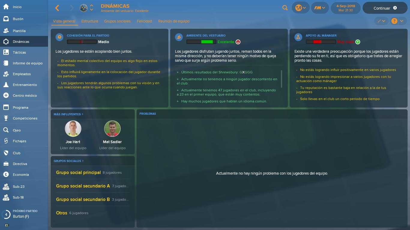 Apoyo al mánager - Temas Generales FM18 - Football Manager Español ...