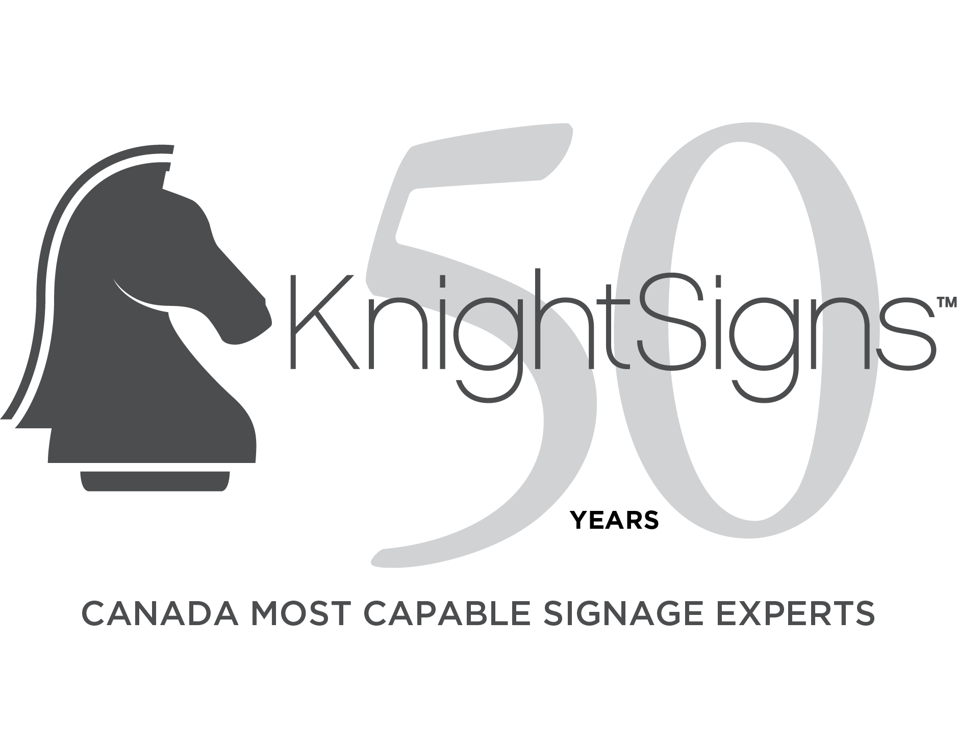 KnightSigns 50th Year Logo