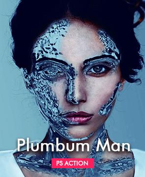 plumbum man Action  - Plumbum Man - Tech Sketch Photoshop Action