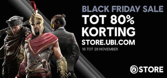 Overzicht van de Black Friday deals in de Ubisoft Store