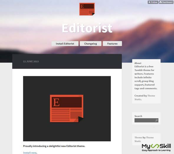 Editorist Tumblr Theme