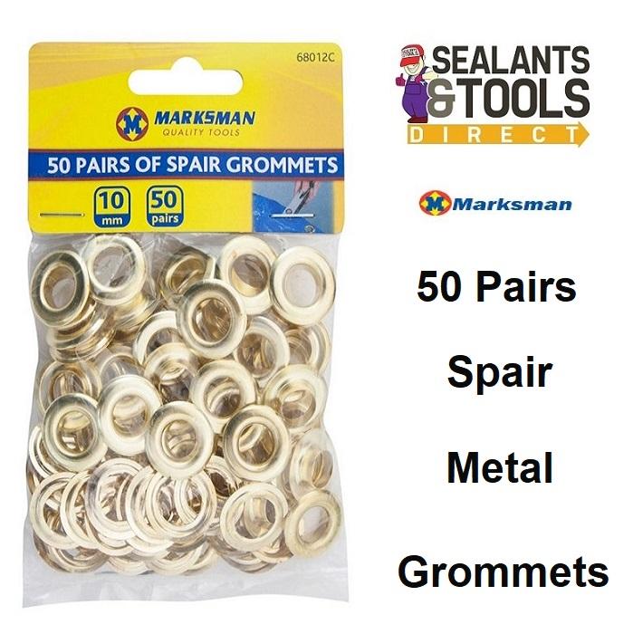 Marksman Metal Tarp Eyelet Grommet 50 Pairs 68012C