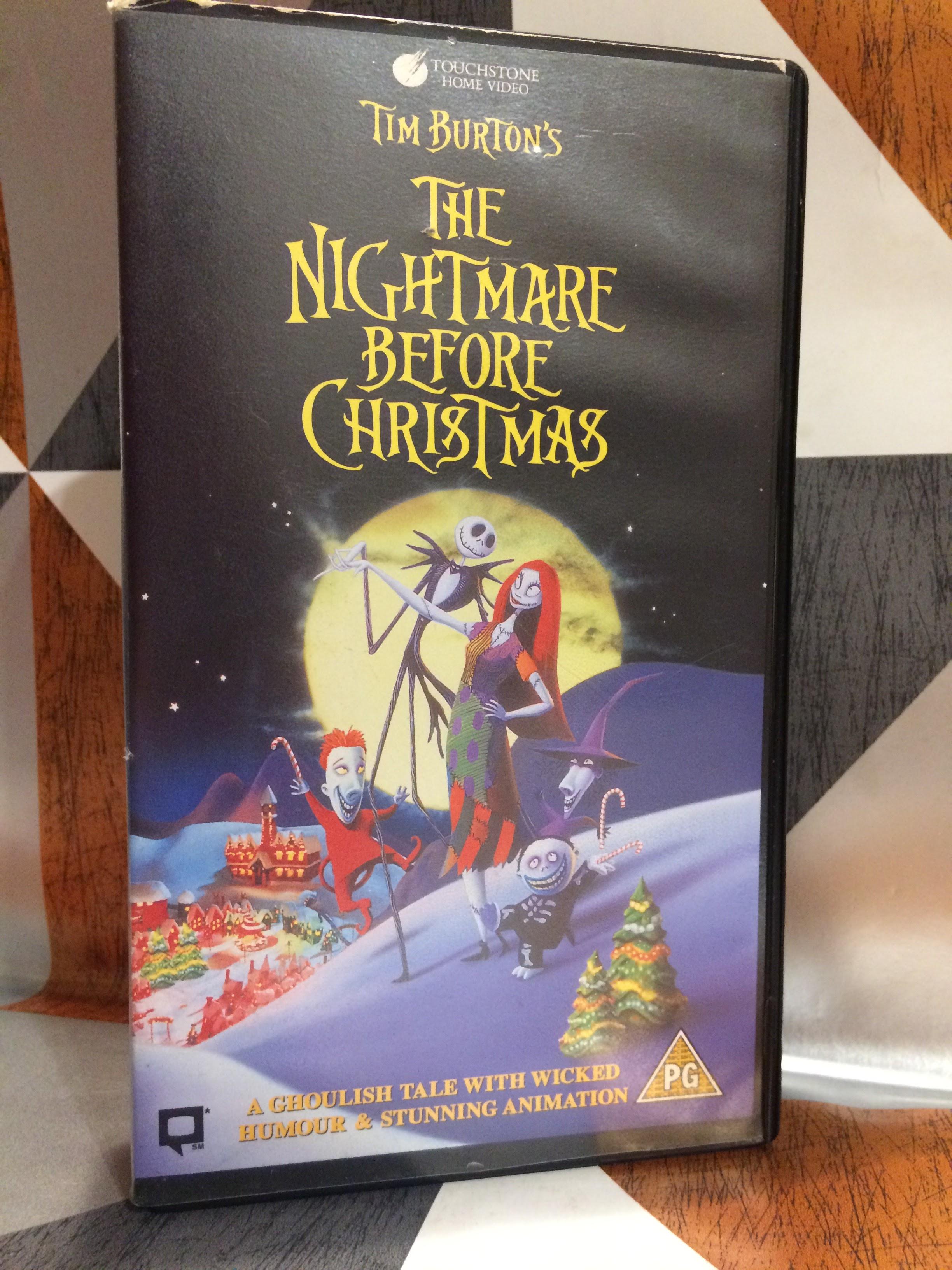 The Nightmare Before Christmas Tim Burton\'s VHS Video Tape Childrens ...