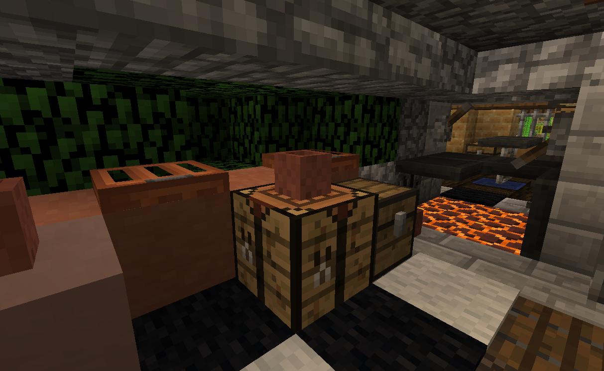 Acacia trapdoor as brick casts