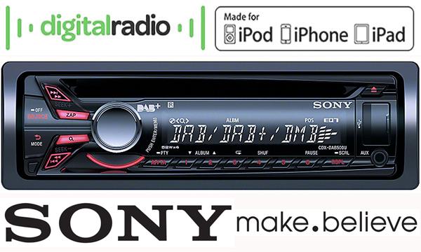 toyota avensis t25 dab radio car stereo sony cdx dab500u. Black Bedroom Furniture Sets. Home Design Ideas