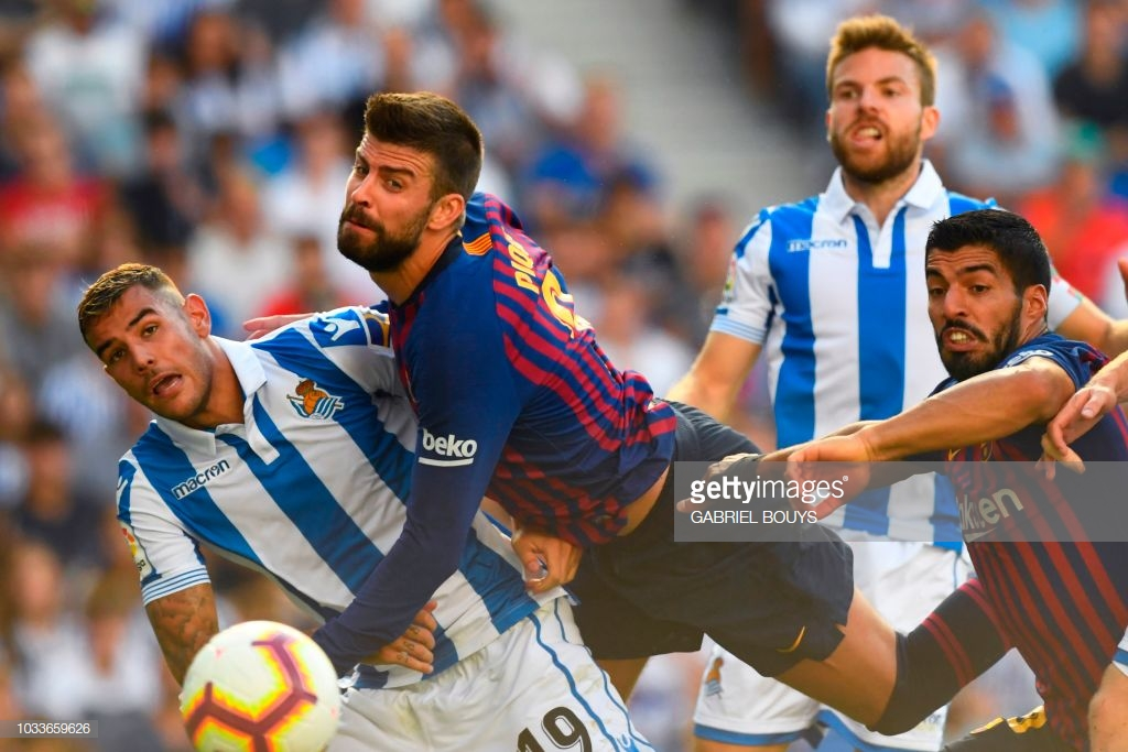 صور مباراة : ريال سوسيداد - برشلونة 1-2 ( 15-09-2018 ) P5