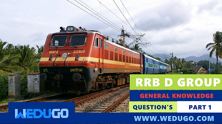 RRB D Group General Knowledge Questions part 1 in Hindi