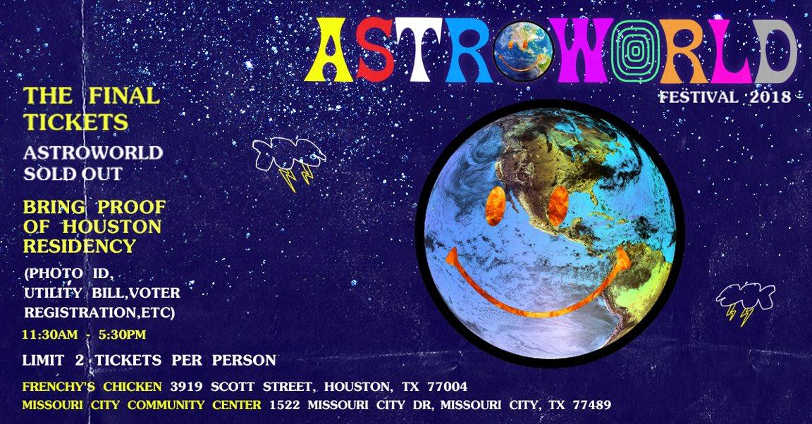 1742b3f28014 Rapper Travis Scott leaving Astroworld Festival tickets for fans at ...
