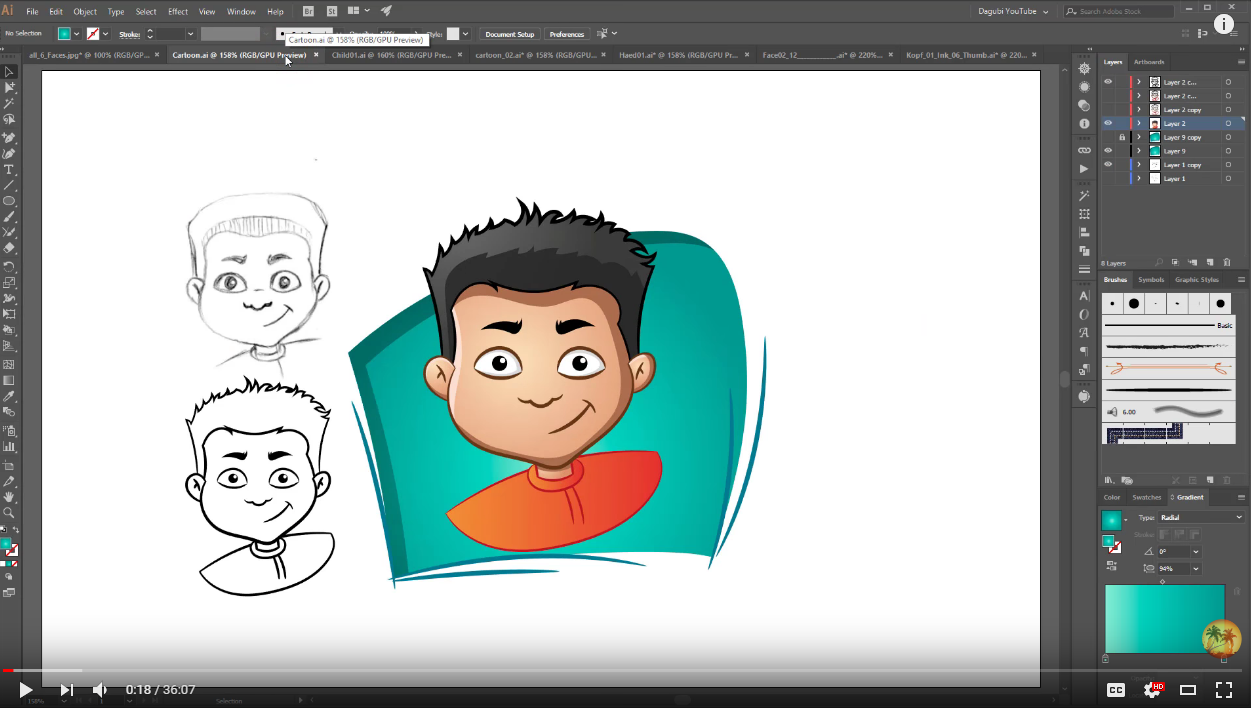 Adobe Illustrator ხატვა