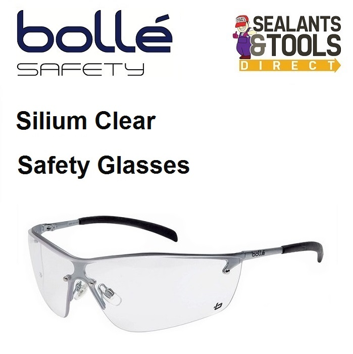 Bolle Silium Approved Safety Glasses Clear SILPSI