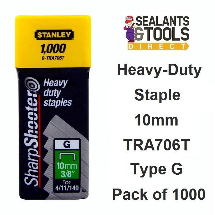 Stanley Heavy Duty Staples 10mm