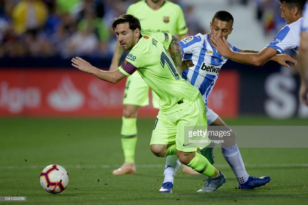 صور مباراة : ليغانيس - برشلونة 2-1 ( 26-09-2018 ) L