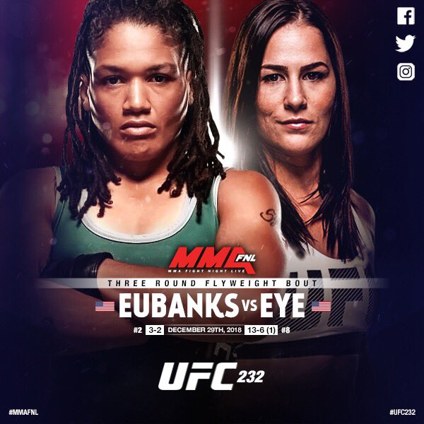 Jessica Eye срещу Sijara Eubanks на UFC 232
