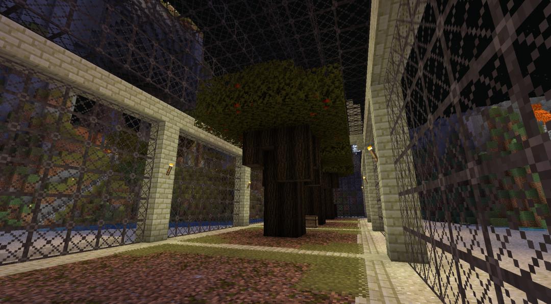 Inside orangerie