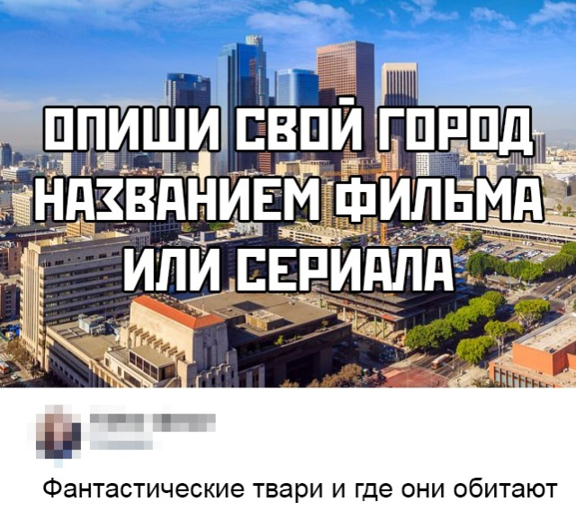 Опиши свой город