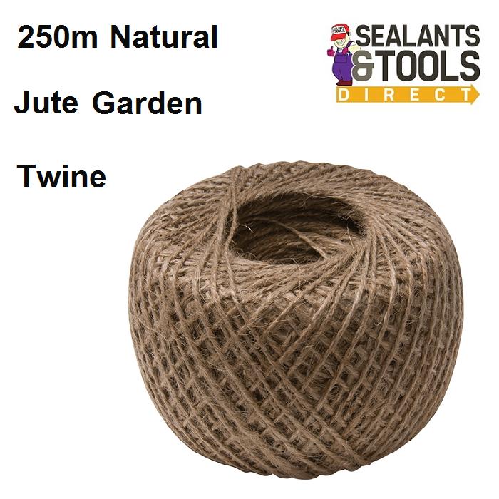 Natural jute Garden Plant Twine String 250m 795597