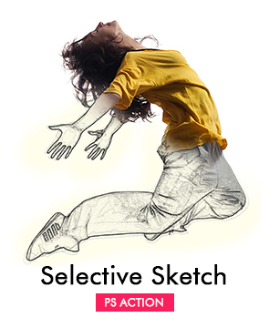 Selective Sketch  - Selective Sketch - Tech Sketch Photoshop Action