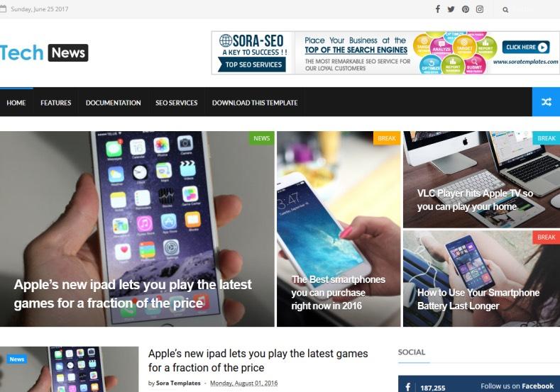 Tech_News_Blogger_Template