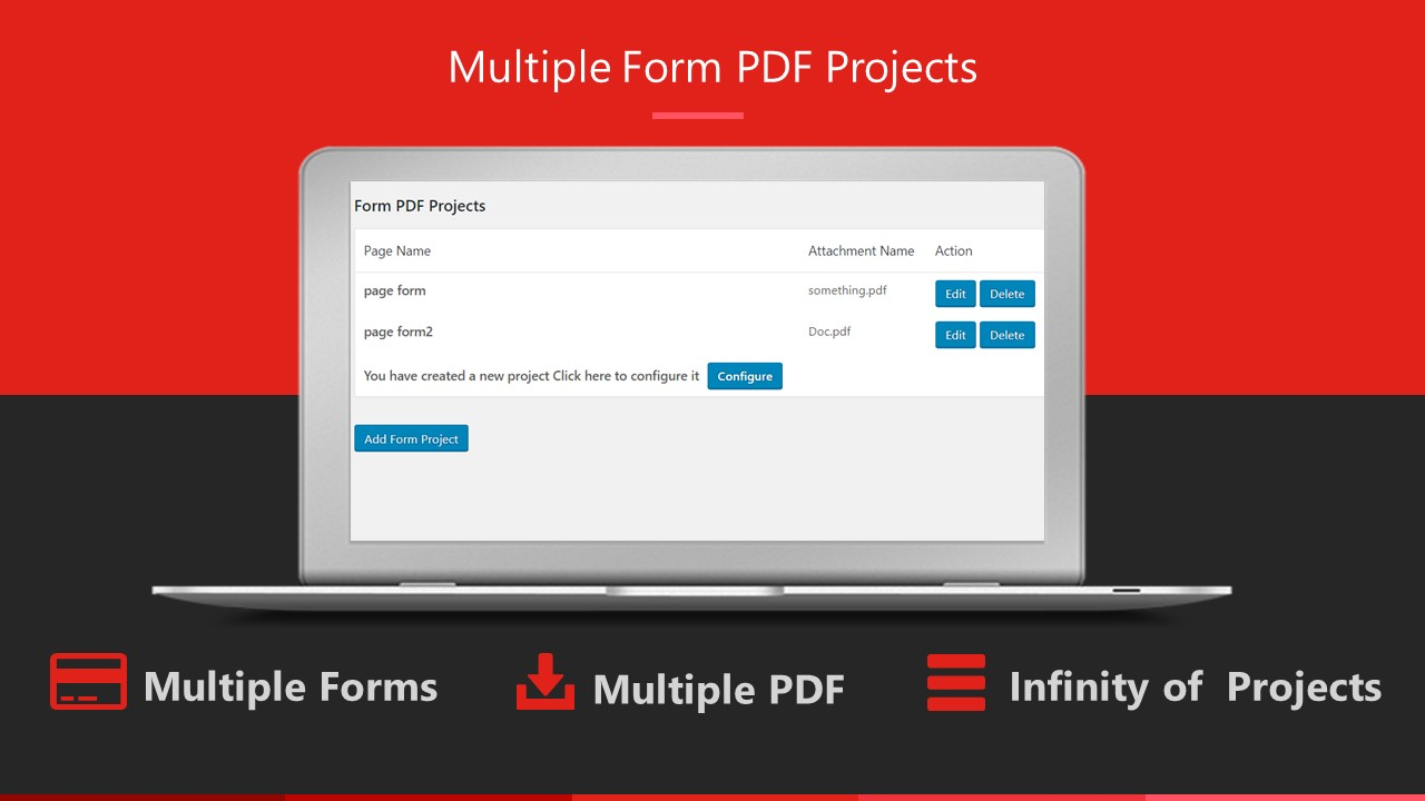 Multiple Form PDF Projects