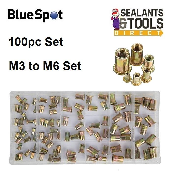 Blue Spot Threaded Rivnut Nutsert Rivets Nut Mixed Set 40602