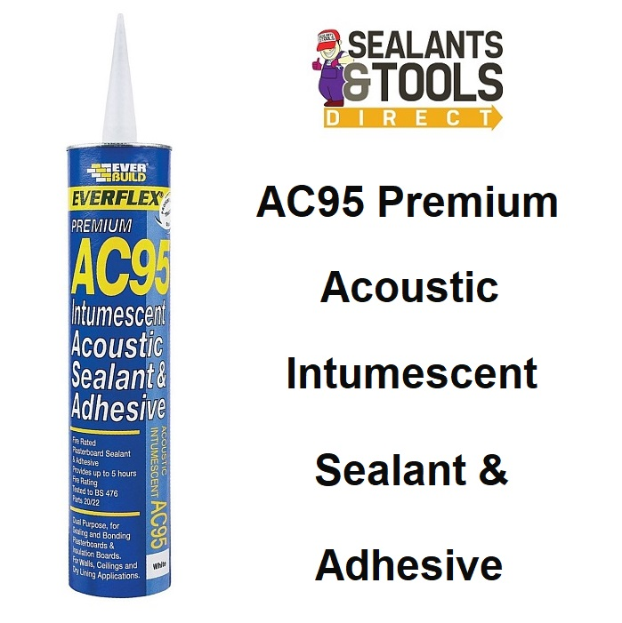 Everbuild AC95 Intumescent Acoustic Sealant Adhesive 900ml AC95900