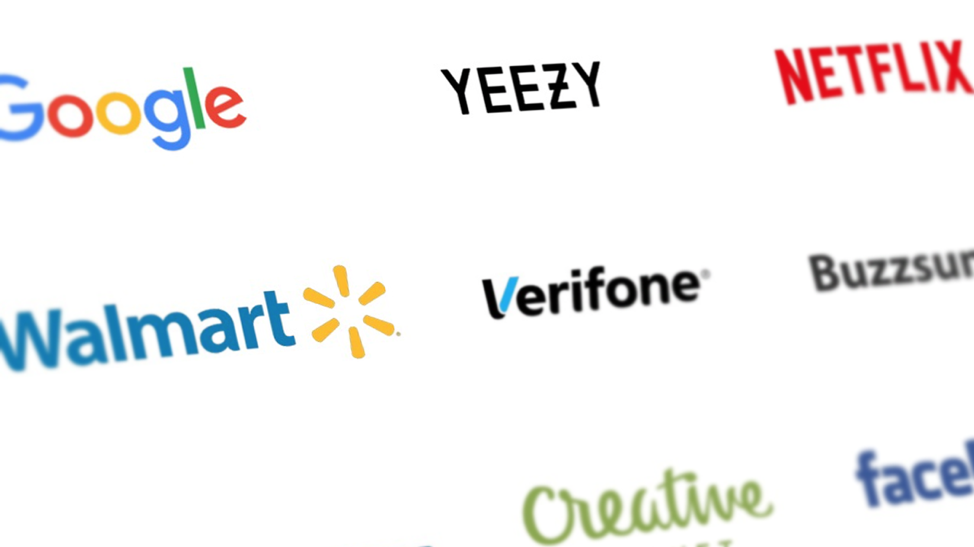 Logos of various successful companies