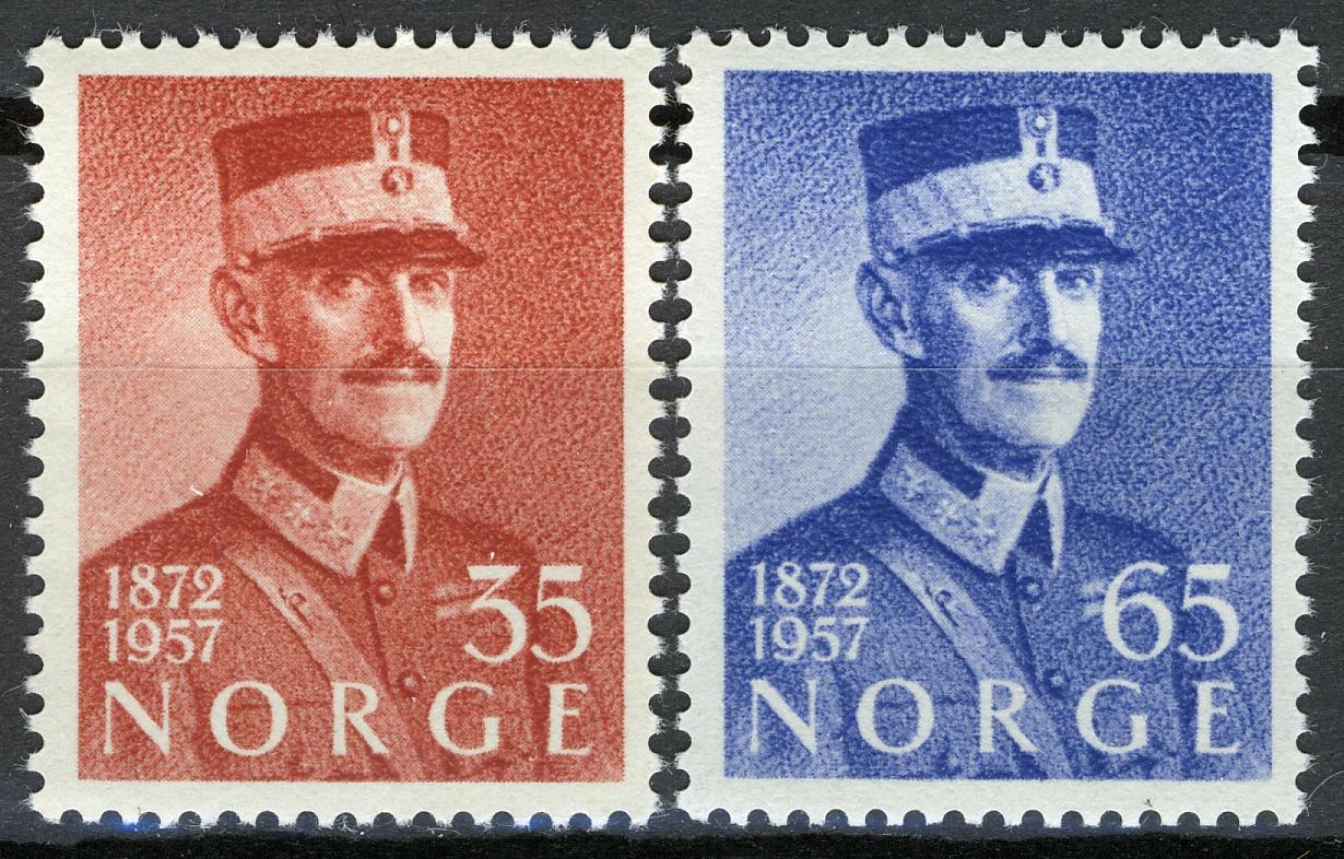 Norway 1957 85th Birthday Of King Haakon VII MNH Sc 358 59