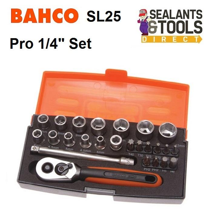 Bahco SL25 Pro 1/4 Inch 25 Piece Socket Set BAHSL25B
