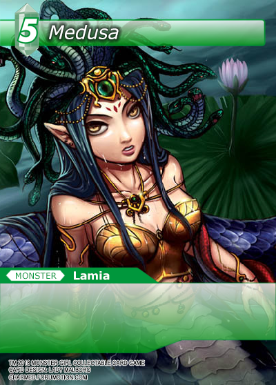 Monster Girl Collectible Card Profiles: Villainesses! - Page 2 Medusa