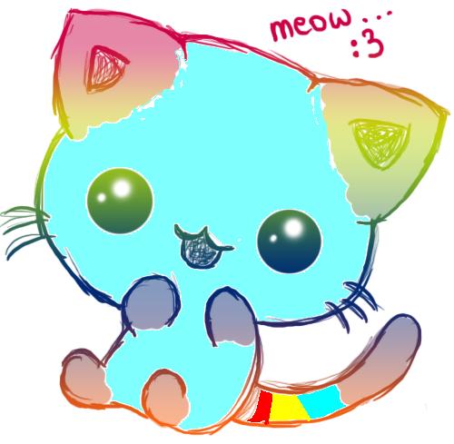 kawaii rainbow kitty 3 by moonkawaii55 daybinc