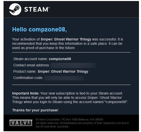 Invoice Pembelian Game Di Steam