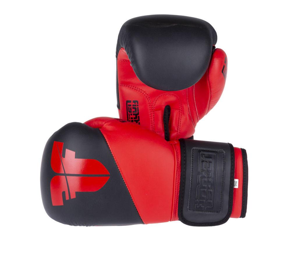 Боксерские перчатки SPLIT красные КОЖА ( Бренд Чехия ) New