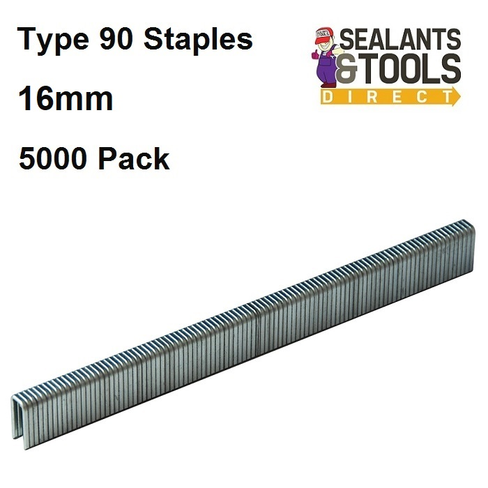 Silverline Stapler Type 90 Staples 5000pk - 16mm 456989