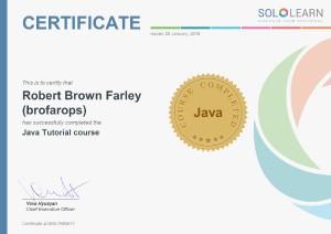 Java certificate