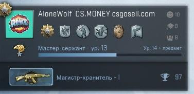 Аккаунт CS:GO  - Магистр Хранитель 1 + 4 000 руб инвентарь