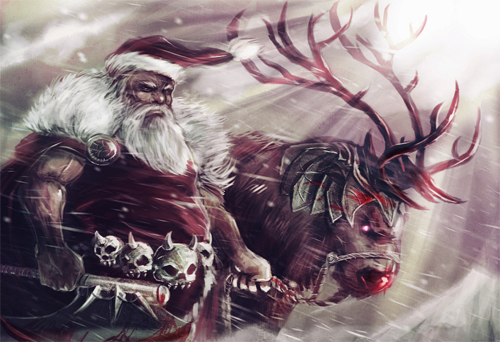 8_barbarian_warrior_santa_claus_christmas_artworks_illustrations